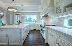 240平方房子新中式別墅開放式廚房裝修效果圖