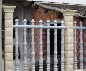 歐式混搭風格羅馬柱圍墻欄桿裝修效果圖