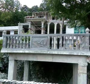 簡約歐式風格羅馬柱圍墻欄桿裝修效果圖