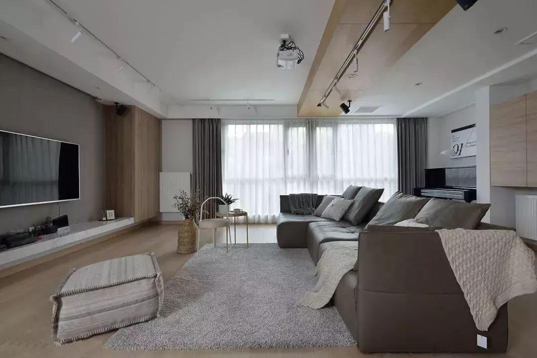 100平米跃层欧式混搭风格客厅横梁吊顶装修效果图