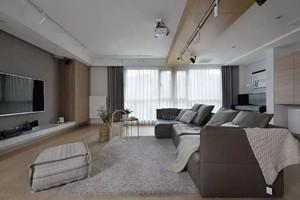 100平米躍層歐式混搭風格客廳橫梁吊頂裝修效果圖