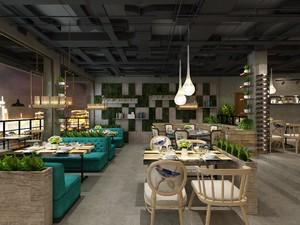 100平西餐厅设计图