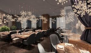 100平美式西餐厅装修效果图