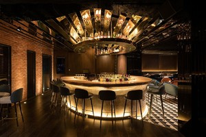 100平米小酒吧金色裝修圖