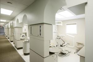 100平牙科診所裝修隔斷圖片