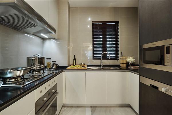 50平米小戶型u字形廚房裝修效果圖