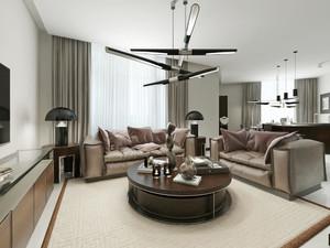 100平米后现代客厅装修效果图