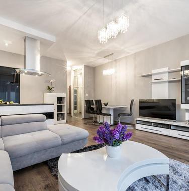 90平米现代风格客厅装修效果图