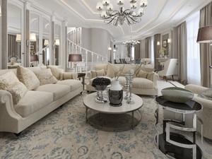 法式别墅客厅装修效果图