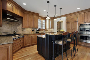 別墅廚房復古裝修效果圖