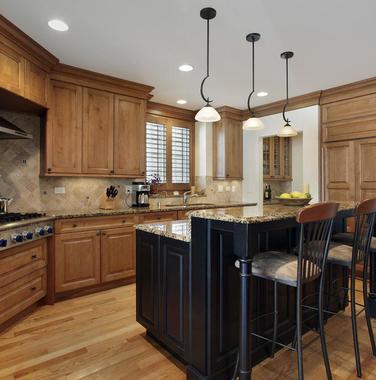 别墅厨房复古装修效果图