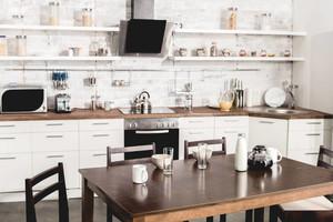 三居室田園風格廚房裝修效果圖
