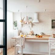 廚房鄉村墻面70平米裝修