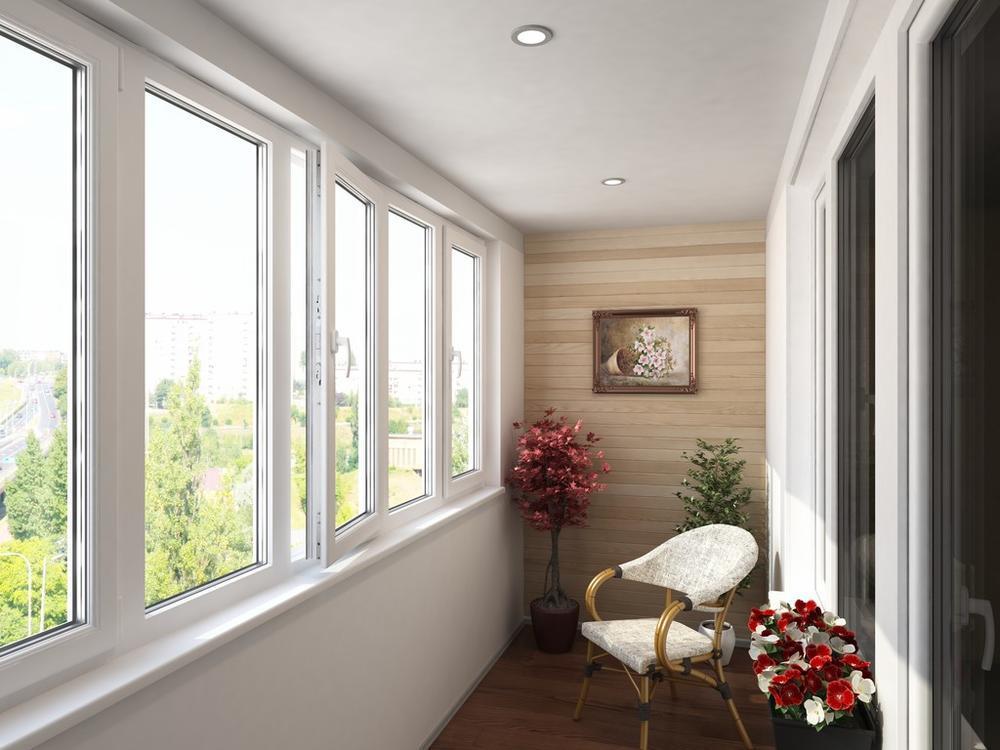 三居室簡約風格陽臺裝修效果圖
