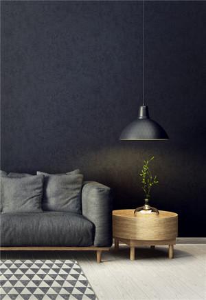 客厅黑色背景墙搭配效果图