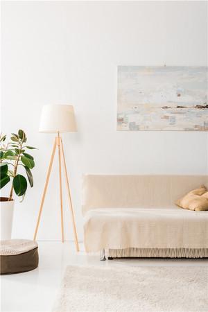 米白色客厅装修效果图