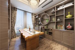 新中式書房書柜效果圖