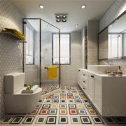 衛生間現代瓷磚90平米裝修