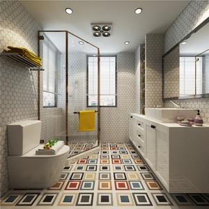 现代卫生间淋浴房装修效果图