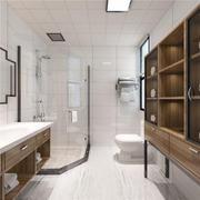 衛生間現代瓷磚80平米裝修