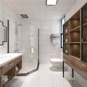 卫生间白色瓷砖装修效果图大全