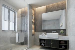 卫生间定制浴室柜效果图