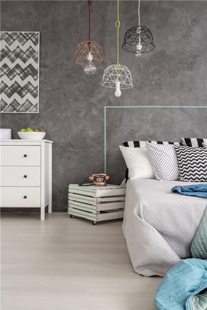 臥室灰色墻面效果圖