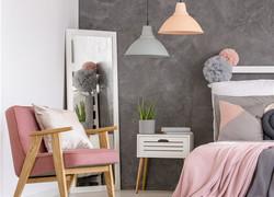 灰粉色臥室裝修效果圖