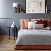 卧室现代背景墙两居室装修