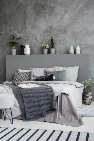 灰色系臥室裝修效果圖