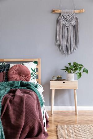 淺紫色臥室墻面裝修效果圖