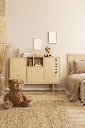 现代卧室储物柜装修效果图