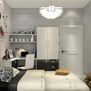 卧室简约床头柜100平米装修