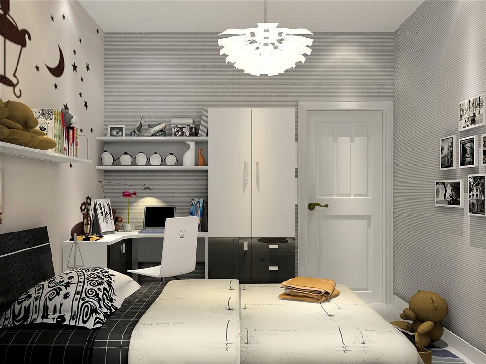 男生卧室简约风格装修效果图