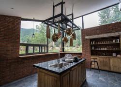 美式鄉村廚房裝修效果圖