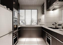 現代簡約廚房效果圖片
