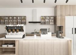 110平現代簡約廚房效果圖