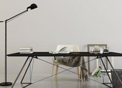 辦公室現代簡約書桌效果圖
