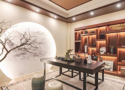 別墅中式古典書房設計圖片