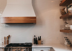 小戶型原木風廚房設計圖片