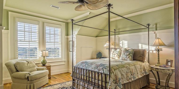 120平米田园风格卧室家具装饰图片