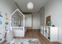 80平米現代風格兒童房墻面裝修效果圖