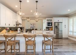 130平混搭風格開放式廚房設計圖片