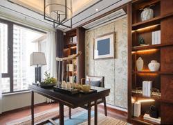 110平米中式風格書房裝修設計圖片