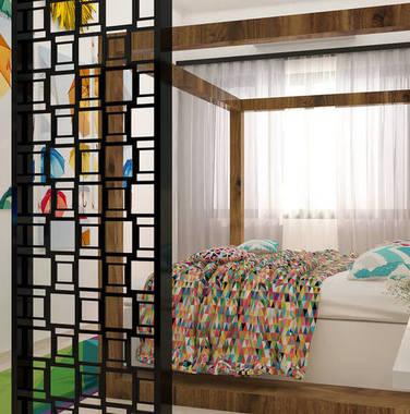 100平米混搭风格卧室家具装饰效果图