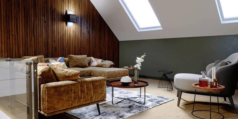 100平米现代风格阁楼装修设计效果图