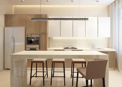 110平現代風格廚房餐區一體化設計圖片