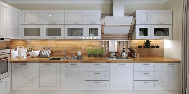 80平现代简约风格厨房设计图片