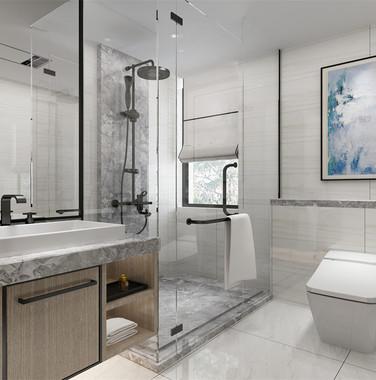 别墅后现代风格卫生间设计图片