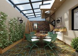 現代風格別墅錯層花園陽臺裝修設計圖